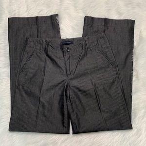 Black pinstripe trouser pant by Banana Republic